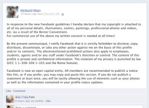 FB Privacy Hoax